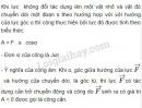 Bài 1 trang 132 SGK Vật lí 10