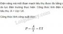 Bài 1 trang 49 SGK Vật lí 11