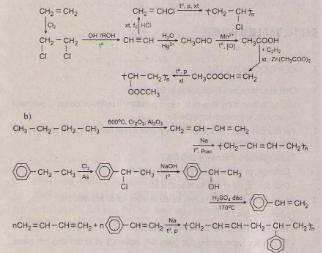 Kết quả hình ảnh cho Viết các phương trình hóa học của các phản ứng tổng hợp a) PVC, pily(vinyl axetat) từ etilen. b) polibutadien và polime đồng trùng hợp giữa butadien và stiren từ butan và etylbenzen.