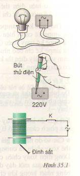Bài 35: Các tác dụng của dòng điện xoay chiều – Đo cường độ và hiệu điện thế xoay chiều (Giải bài tập 1, 2, 3, 4)