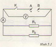 Chương  1. Đoạn mạch song song – Hướng dẫn giải bài tập  1, 2, 3, 4, 5 trang  15, 16  SGK Vật Lý lớp 9