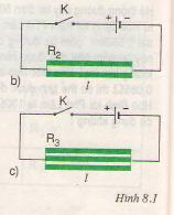Chương  1. Sự phụ thuộc của điện trở vào tiết diện dây dẫn – Hướng dẫn giải bài tập  1, 2, 3, 4, 5, 6 trang  24  SGK Vật Lý lớp 9