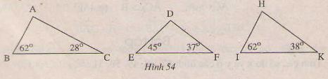 Hình 54 bài 5 trang 107 SGK Toán 7 Tập 1