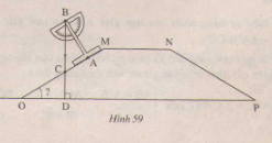 Hình 59 bài 9 trang 109 SGK Toán 7 Tập 1