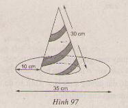 Hình 97 bài 21 trang 118 SGK Toán lớp 9 Tập 2
