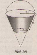 Hình 101 bài 28 trang 119 SGK Toán lớp 9 Tập 2
