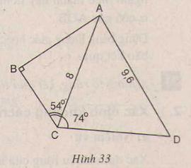 Hình 33 bài 31 trang 89 SGK Toán lớp 9 Tập 1