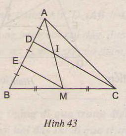 Hình 43 bài 22 trang 79 SGK Toán lớp 8 Tập 1
