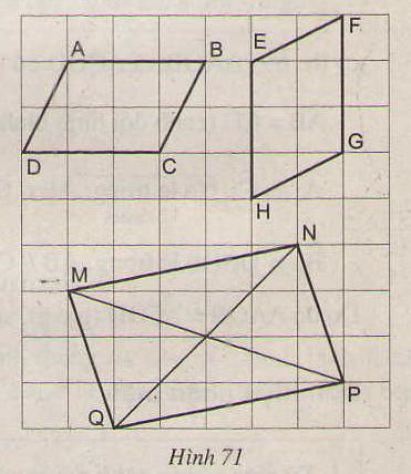 Hình 71 bài 42 trang 89 SGK Toán 8 Tập 1