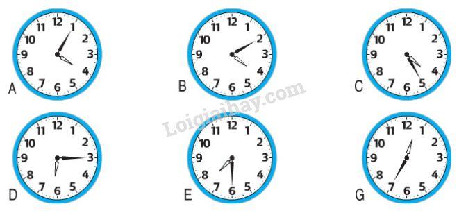 1. Đồng hồ chỉ mấy giờ?
