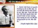 """Dàn ý phân tích """"phần tuyên ngôn"""" trong bản Tuyên ngôn Độc lập của Chủ tịch Hồ Chí Minh"""