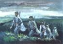 Bình giảng đoạn thơ sau đây trong bài Tây Tiến :...Nhớ ôi Tây Tiến cơm lên khói …Sông Mã gầm lên khúc độc hành