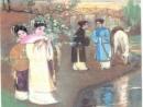 Phân tích bức tranh mùa xuân trong bốn câu thơ sau: Ngày xuân con én đưa thoi,…Cành lê trắng điểm một vài bông hoa. Nguyễn Du - Truyện Kiều.