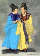 Cảnh chị em Thúy Kiều du xuân trở về trong đoạn thơ Cảnh ngày xuân  trích Truyện Kiều của Nguyễn Du.