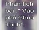 Phân tích đoạn trích Vào phủ chúa Trịnh của Lê Hữu Trác - lớp 11