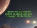 Phân tích hình ảnh người nghĩa sĩ cần Giuộc trong bài Văn tế nghĩa sĩ Cần Giuộc của Nguyễn Đinh Chiểu.