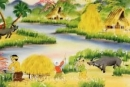 Vẻ đẹp thiên nhiên trong: Thiên trường vãn vọng (Buổi chiều đứng ở phủ Thiên Trường trông ra)