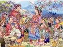 Trong vai Lạc Long Quân, kể lại truyền thuyết Con rồng cháu Tiên