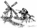 Tóm tắt đoạn trích Đánh nhau với cối xay gió (trích Đôn Ki-hô-lê của Xéc-van-téc)