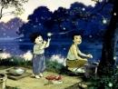 Bức tranh phố huyện nghèo lúc chiều tối trong Hai đứa trẻ