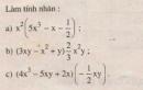 Bài 1 trang 5 sgk toán 8 tập 1.