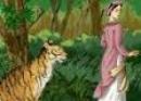 Trong vai bà đỡ Trần kể lại câu chuyện con hổ có nghĩa
