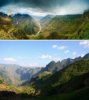 Quan sát hình 6, xác định các cánh cung núi và nêu nhận xét về độ cao địa hình của vùng.