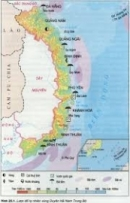 Vị trí địa lí và giới hạn lãnh thổ duyên hải Nam Trung Bộ