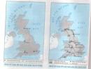 Quan sát hai lược đồ trên, em hãy nêu những biến đổi ở nước Anh sau khi hoàn thành cách mạng công nghiệp?