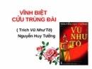 """Bài 2 - Phân tích đoạn trích """"Vĩnh biệt Cửu Trùng Đài"""" của Nguyễn Huy Tưởng"""