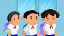Đóng vai ba bạn Hùng,Quý,Nam nêu ý kiến tranh luận