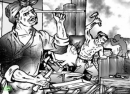 Đọc bài văn người thợ rèn ghi lại những chi tiết tả người thợ rèn đang làm việc