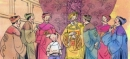 Đề bài: Kể lại bài văn Vương quốc vắng nụ cười bằng cách phân vai (người dẫn chuyện, vị đại thần, nhà vua, viên thị vệ, cậu bé).