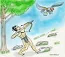 Viết đoạn văn kể lại chiến công bắn giết Đại Bàng của Thạch Sanh