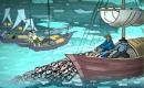"""Đọc đoạn thơ trong bài """"Đoàn thuyền đánh cá"""" rồi trả lời câu hỏi"""