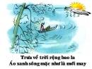 """Cảm nhận của em về bài thơ """"Dòng sông mặc áo """" của Nguyễn Trọng Tạo"""