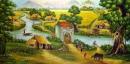 Hãy tả cảnh của xóm làng em vào một buổi sáng sớm