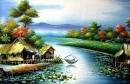 Hãy viết một đoạn văn miêu tả cảnh sông nước