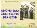 Soạn bài Những đứa con trong gia đình - Nguyễn Thi - SGK Ngữ Văn lớp 12 tập 2
