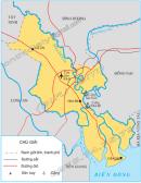 Quan sát hình 1, em hãy cho biết : Chỉ vị trí của Thành phố Hồ Chí Minh trên lược đồ và cho biết thành phố tiếp giáp những tỉnh nào ?