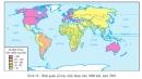 Dựa vào hình 39, hãy phân tích đặc điểm phân bố máy điện thoại trên thế giới?