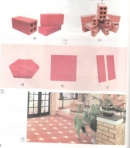 Trong hình 1 và 2, loại gạch nào được dùng để xây tường, loại gạch nào để lát sàn nhà ; lát sân hoặc vỉa hè ốp tường ?
