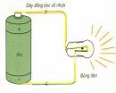 Sử dụng bóng đèn, pin, dây điện, hãy tìm cách thắp sáng bóng đèn