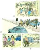 Hãy chỉ ra những việc làm vi phạm luật giao thông trong các hình 1, 2, 3, 4 và nêu hậu quả có thể xảy ra của những sai phạm đó