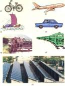 Các phương tiện, máy móc trong các hình dưới đây lấy năng lượng từ đâu để hoạt động ?