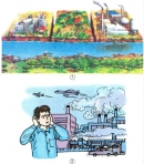 Nêu nguyên nhân làm ô nhiễm không khí và nước