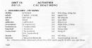 Vocabulary - Phần từ vựng - Unit 13 Tiếng Anh 7