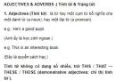 Adjectives & Adverbs ( Tính từ & Trạng từ) Unit 6 Tiếng Anh 9
