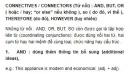 CONNECTIVES / CONNECTORS (Từ nối) Unit 7 SGK Tiếng Anh 9