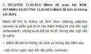 RELATIVE CLAUSES (Mệnh đề quan hệ) Unit 9 Tiếng Anh 9